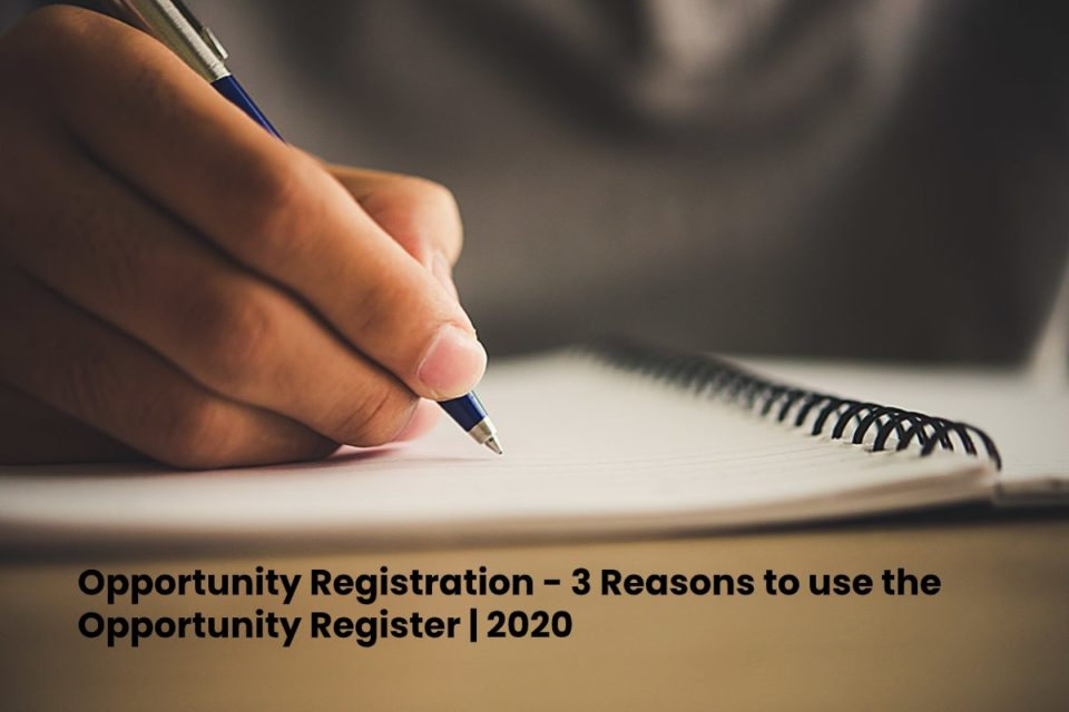 image result for Opportunity Registration - 3 Reasons to use the Opportunity Register